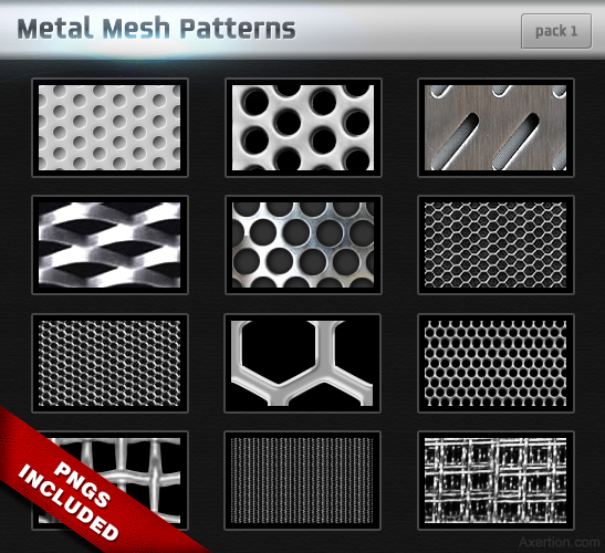 Metal Mesh Patterns – Pack 1