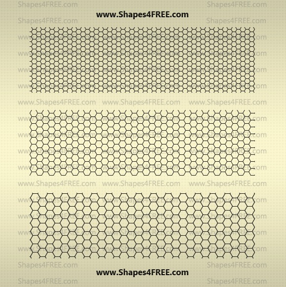 22 Hexagon Photoshop Patterns