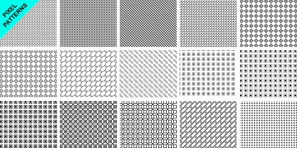 15 pixel patterns