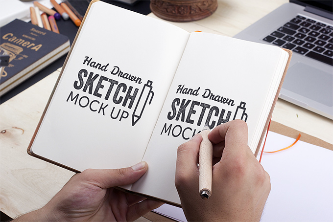 Hand-Drawn Sketch Mockup vol.2