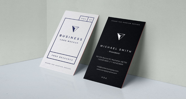 PSD Business Card Mock-Up vol.27