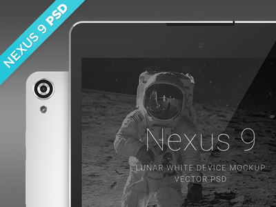 Nexus 9 Lunar White Mockup