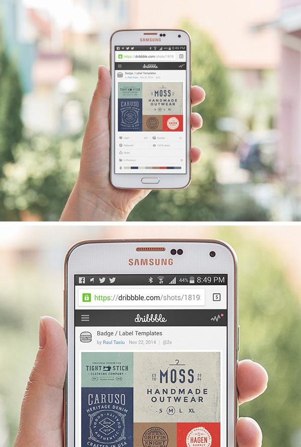 Samsung Galaxy SS PSD Mockup