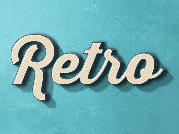 Retro Text Effect #2