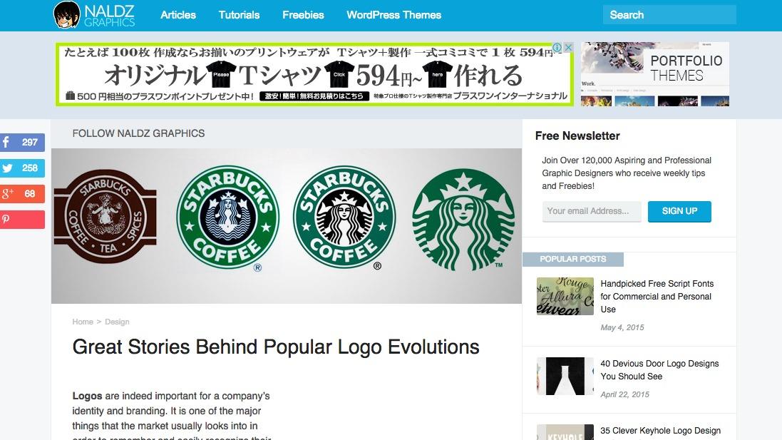 有名なロゴの変化の歴史