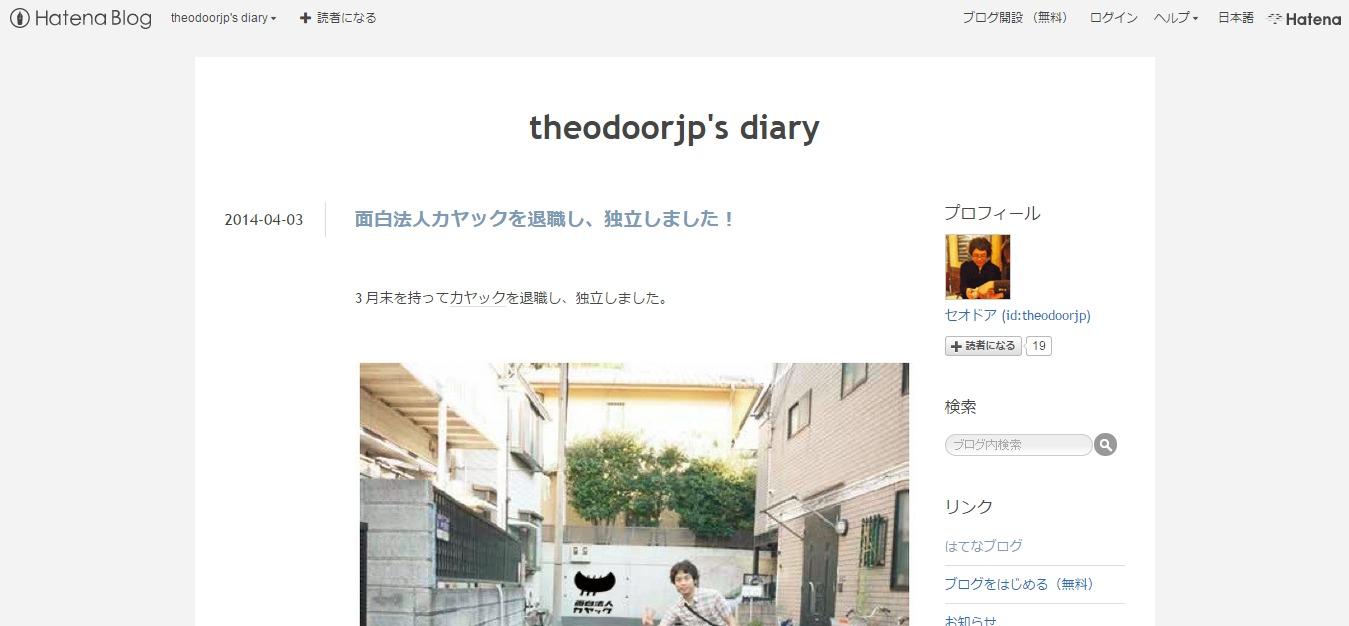 theodoorjp's diary