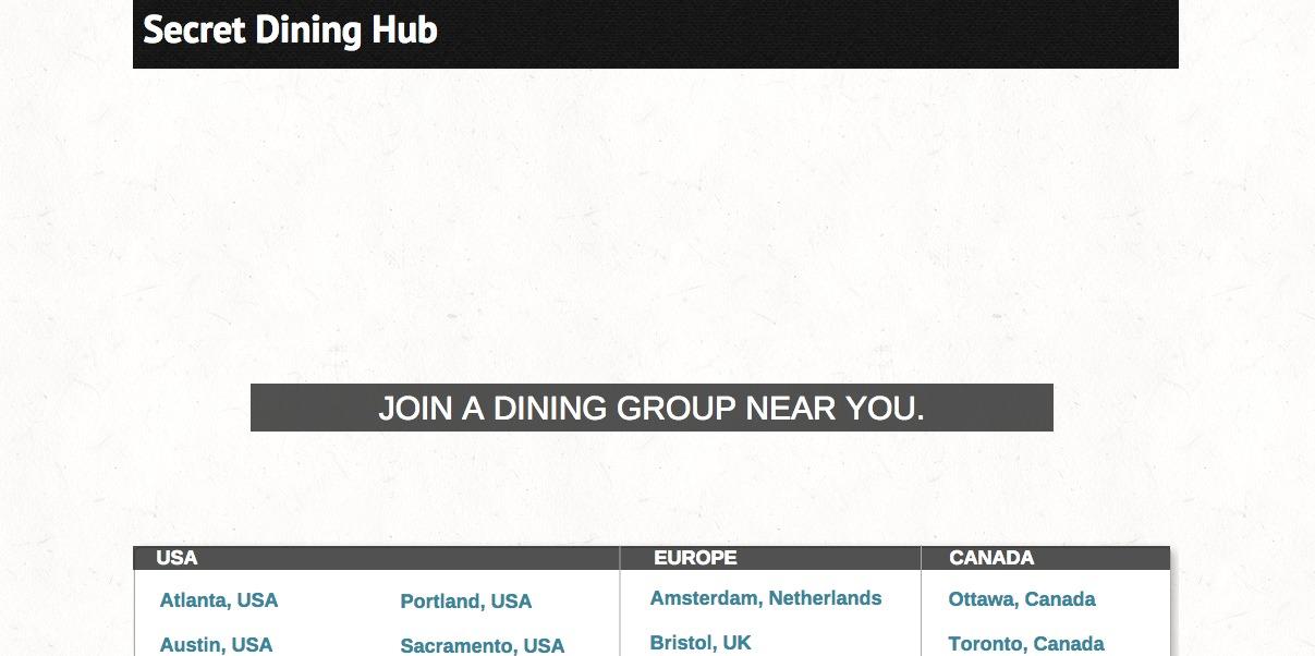 Secret Dining Hub