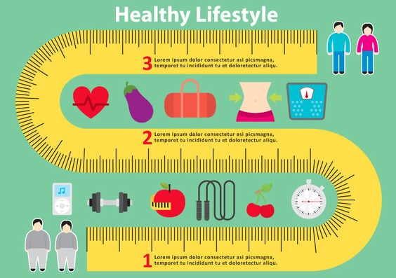 Healthy Measuring Tape Vector Background