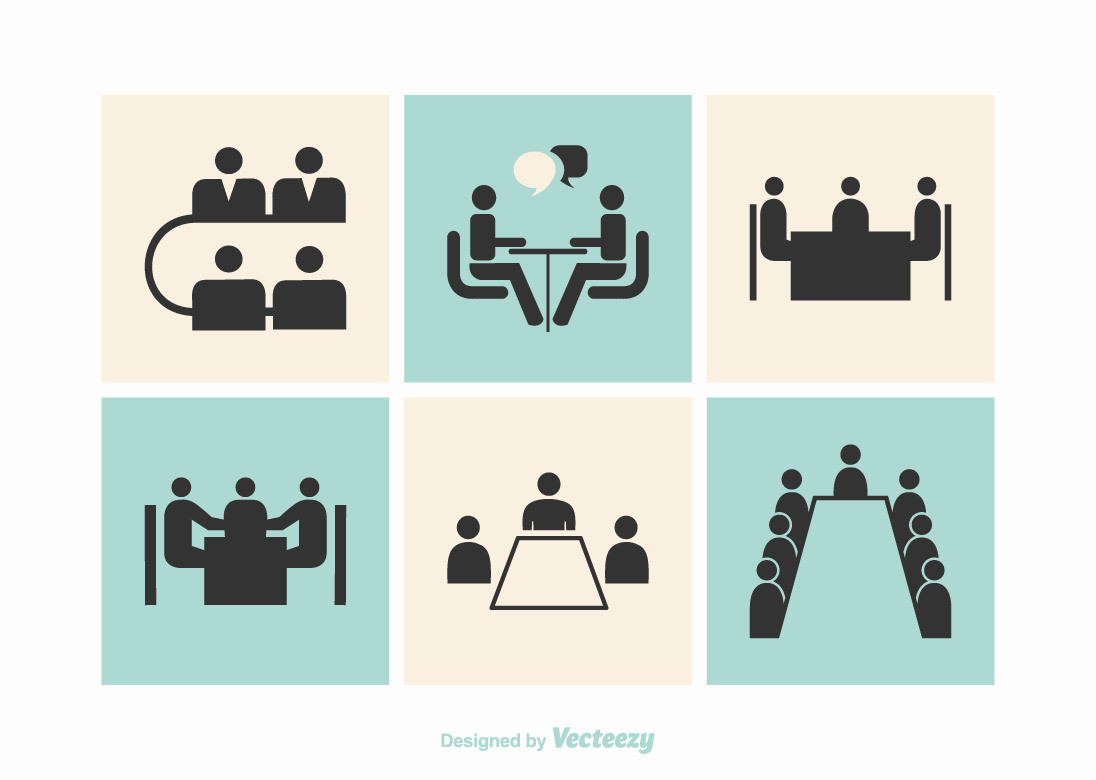 Free Business Meeting Tables Vector Icons