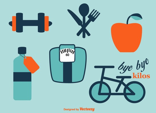 Sport and Diet Vector Icons