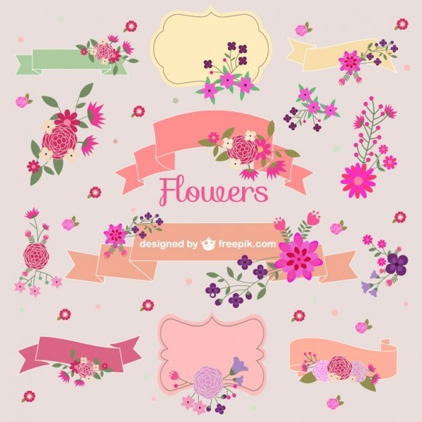 Flower Bouquets Vector Graphic Elements Free Vectors
