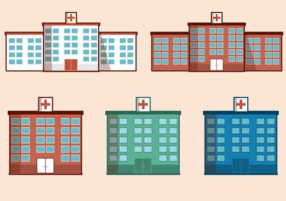 Free Vector Hospital Building