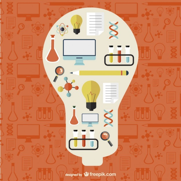 Free Science Template Illustration Free Vector