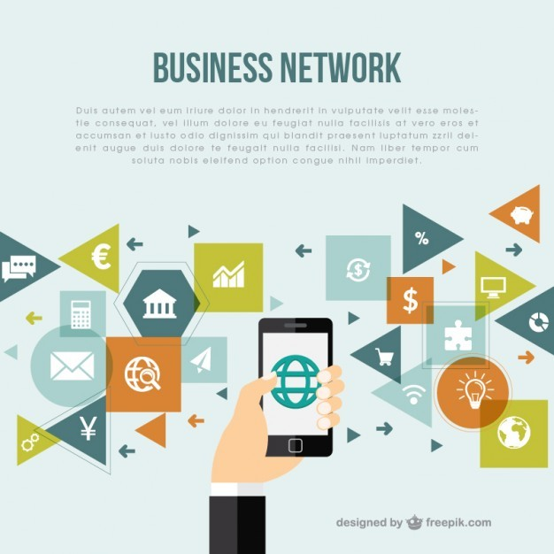 Business Network Background Free Vector