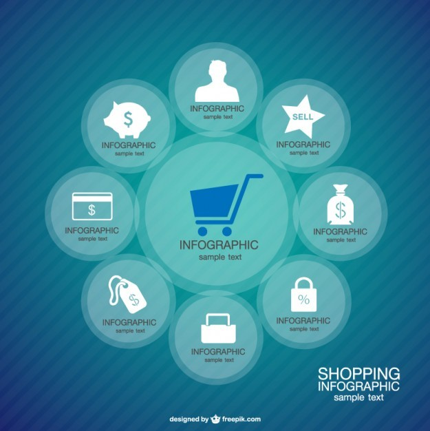 Infographic Shopping Layout Free Vector