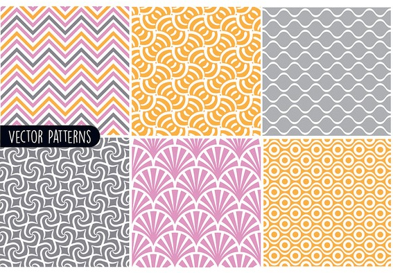 Funky Geometric Pattern Vector Set