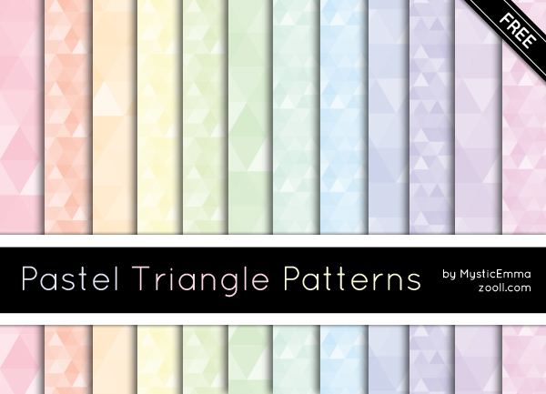 GOODIES: PASTEL TRIANGLE PATTERNS