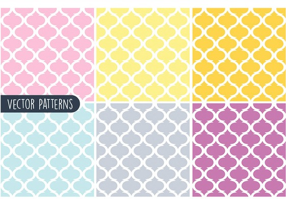 Pastel Geometric Vector Pattern Set
