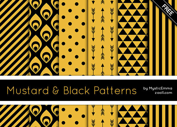 GOODIES: MUSTARD & BLACK PATTERNS