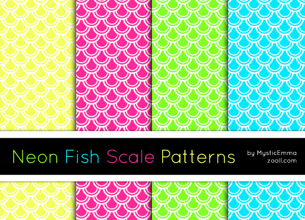 GOODIES: NEON FISH SCALE PATTERNS