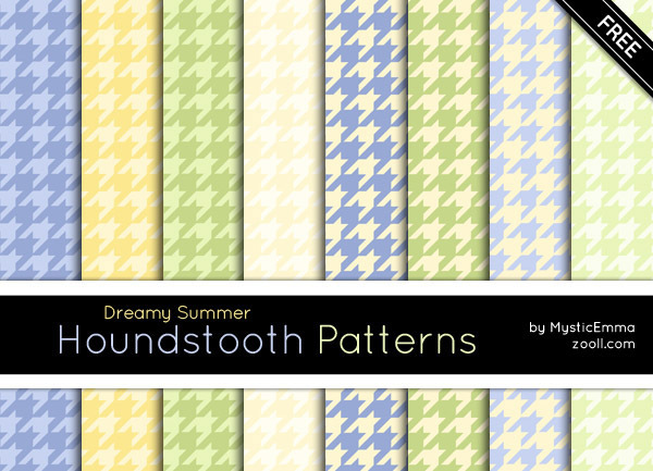 GOODIES: DREAMY SUMMER HOUNDSTOOTH PATTERNS