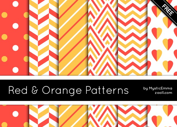 GOODIES: RED AND ORANGE PATTERNS