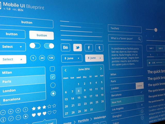 Mobile UI Blueprints PSD