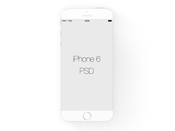 White flat iPhone mockup