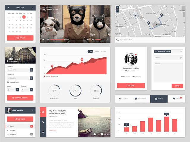 Widgets UI kit – PSD