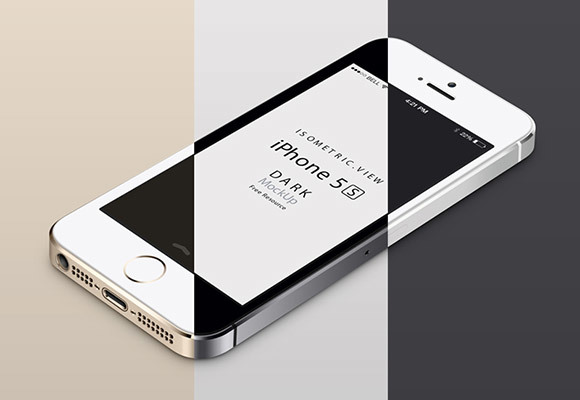iPhone 5S mockup – Perspective view