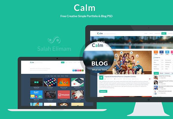 Calm – Free PSD Portfolio