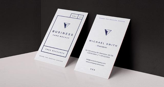 Psd Business Card Mock-Up Vol27