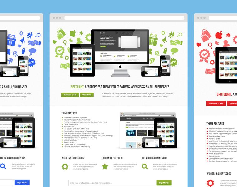 Free Spotlight Product Launch Theme PSD Files