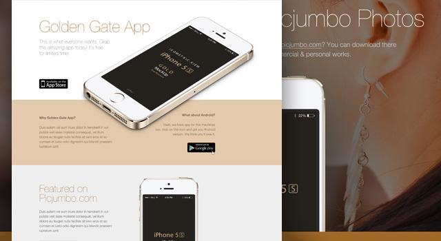 Golden Gate Sleek Website Design PSD