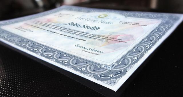 Psd Print Certificate Template