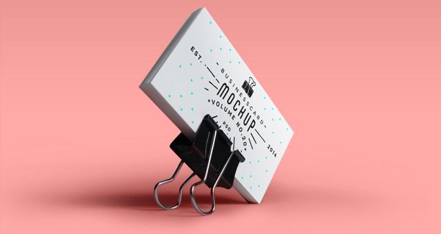 Psd Business Card Mock-Up Vol20