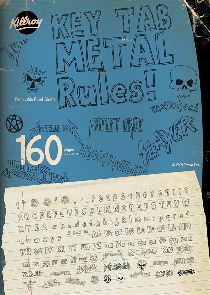 Key Tab Metal font