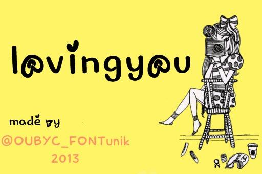 lovingyou font