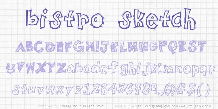 BistroSketch font
