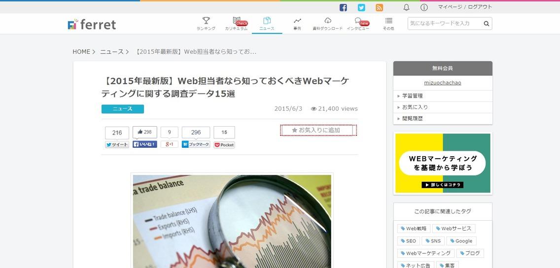 【2015年最新版】Web担当者なら知っておくべきWebマーケティングに関する調査データ15選