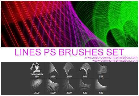 lines brushes set