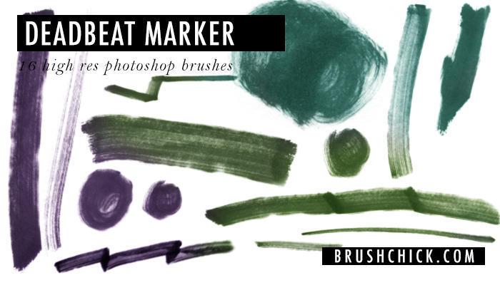 free photoshop marker brushes 24 deadbeat marker