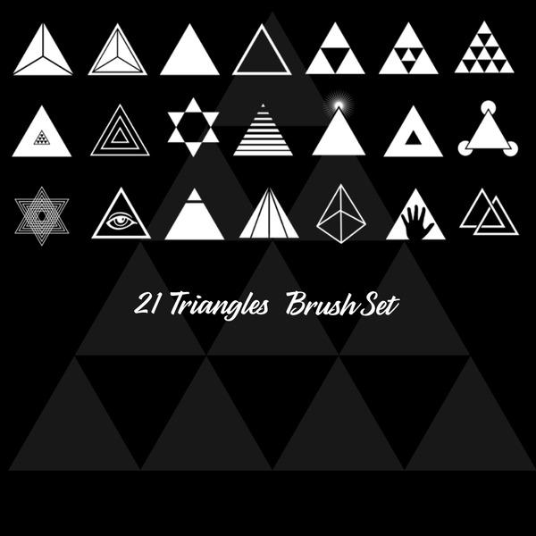 21 triangle brushes