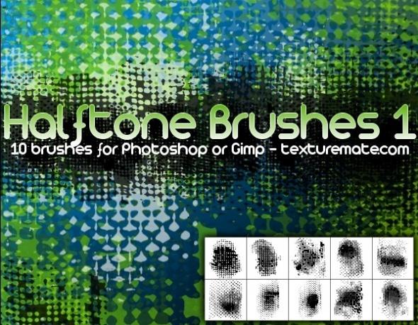 Halftone 1 Brush Pack