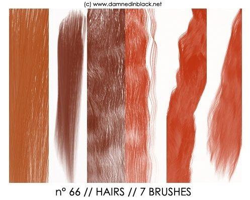 PHOTOSHOP BRUSHES : hairs
