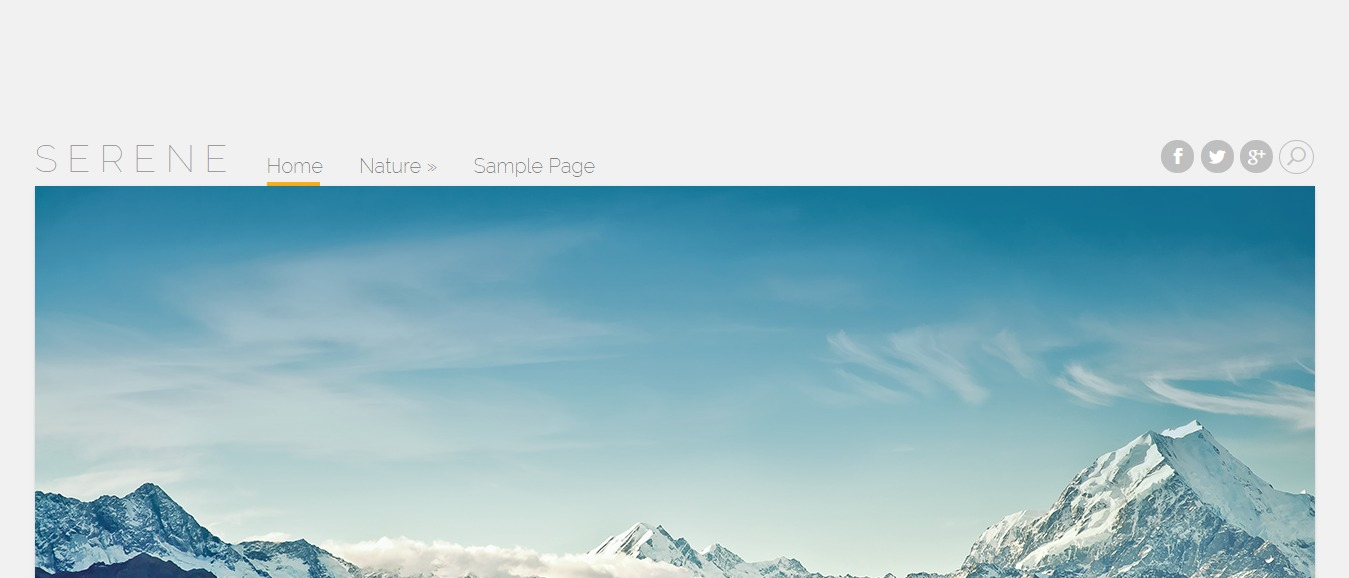Serene Personal Blogging Theme