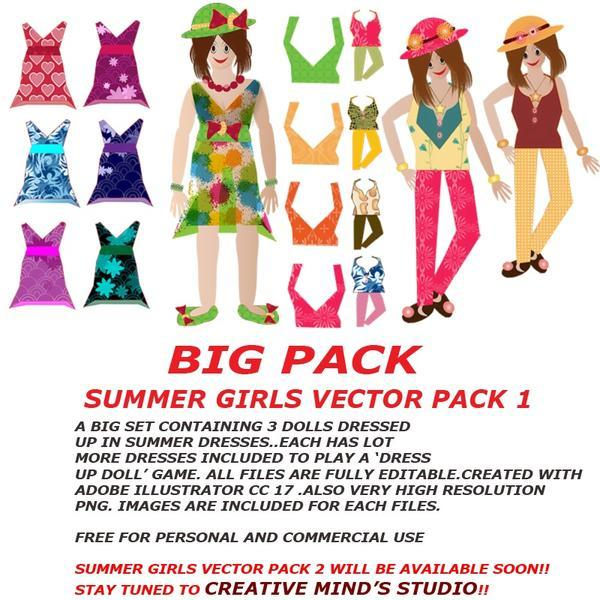 SUMMER GIRLS VECTOR PACK
