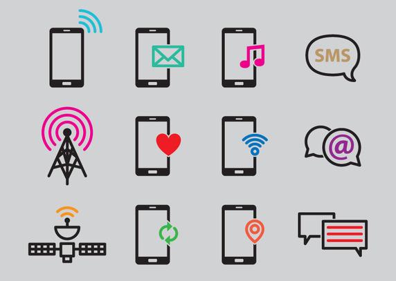 Smartphone Signal Vectors