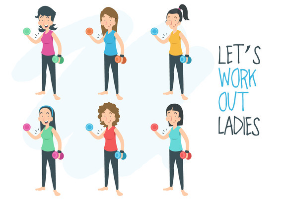 Work Out Ladies Vector