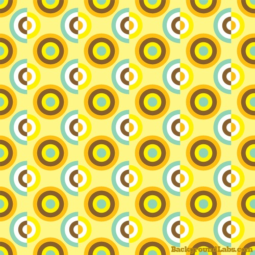 Seamless Retro Circles Pattern